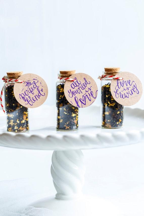Tea Wedding Favours Tea In 8ml Glass Bottle Edible Wedding Etsy