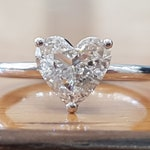 1 Carat Heart Diamond Engagement Ring, Solitaire Diamond Ring, Heart Shaped Diamond Ring, Solitaire Engagement Ring White Gold