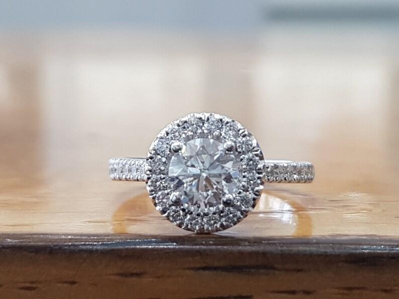 f128a663c0995 1 Carat Diamond Halo Engagement Ring Halo Diamond Ring White