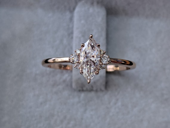 1 2 Carat Marquise Diamond Ring Marquise Cut Engagement Ring Etsy