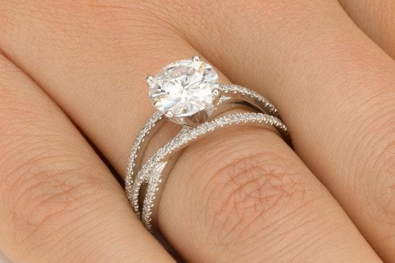2 1 2 Carat Diamond Ring Multi Band Diamond Engagement Ring Etsy