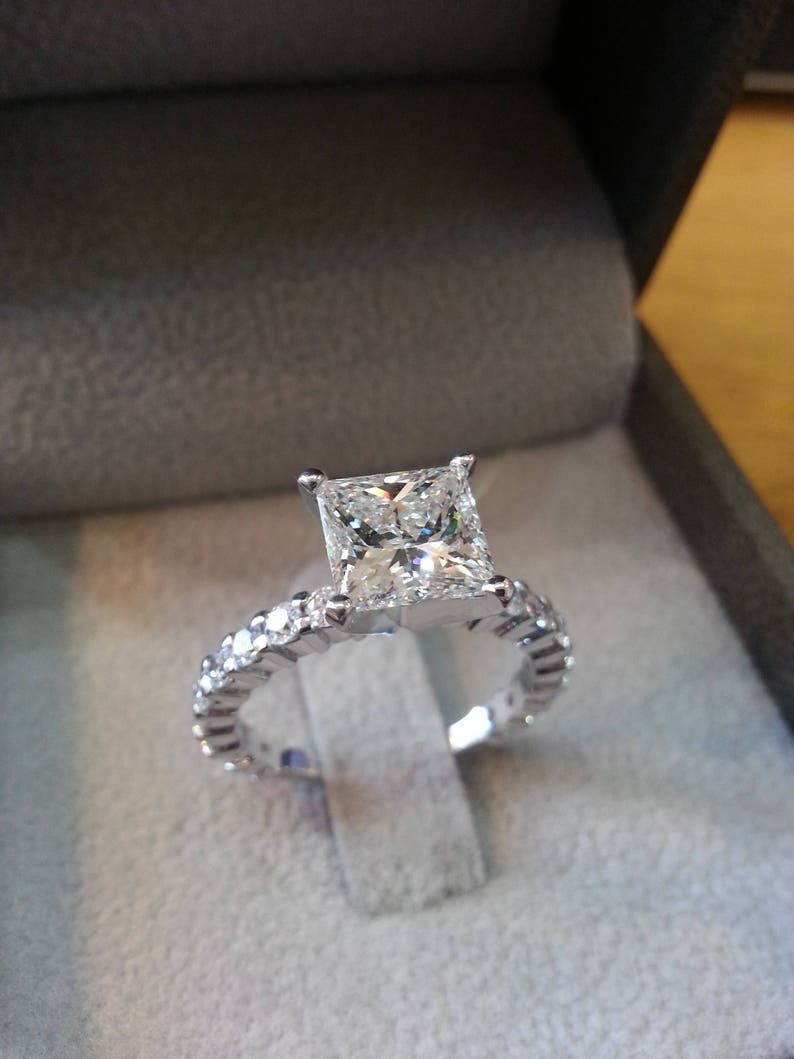 2 1 2 Carat Diamond Princess Engagement Ring Princess Diamond  9ed256ba3e75