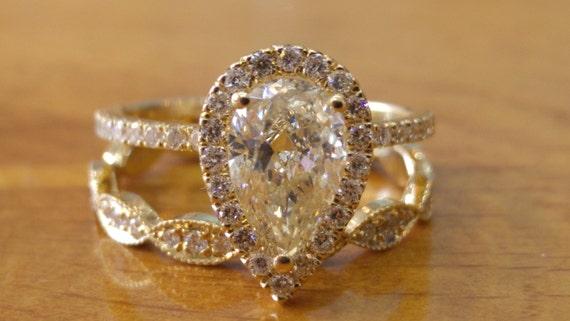 1 12 Karatowy Pierścionek Zaręczynowy Pierścionek Z Brylantem Pierścionek Z Brylantem Diament Pierścionek Zaręczynowy Art Deco Pierścień