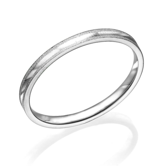 058285a7dbb32 Wedding Bands For Men Gentle 2mm 14k White Gold Men Wedding Band, Rings For  Wedding, Personalized Bands For Men, Classic Rings