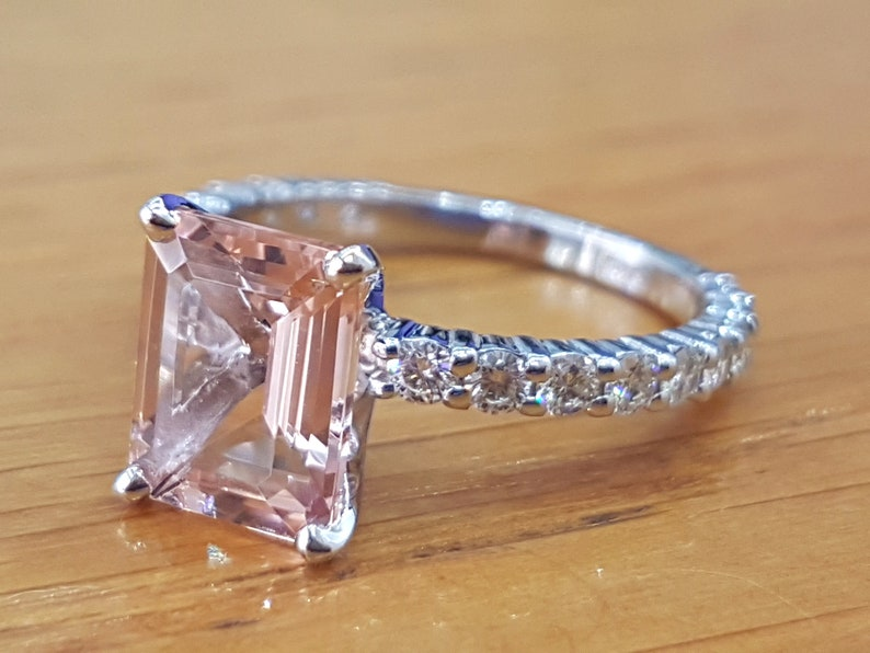 579310a565a22 3 Carat Morganite Engagement Ring With Diamonds