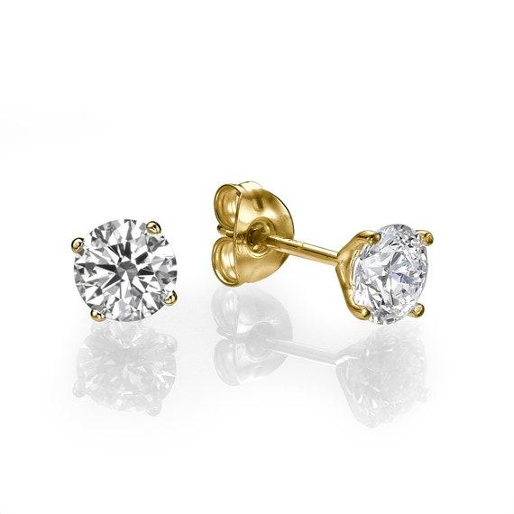 2.0cttw Forever Brilliant Charles and Colvard Moissanite 14K White Gold Stud Earrings Art of Fine