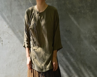 5b0d0ffbe6396 Cheongsam shirt | Etsy