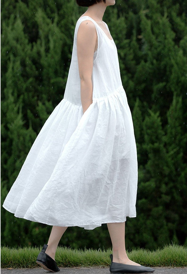 fc2e6052bce82 A86Pleated Babydoll Dress Excluding Inner Slip Off   Etsy