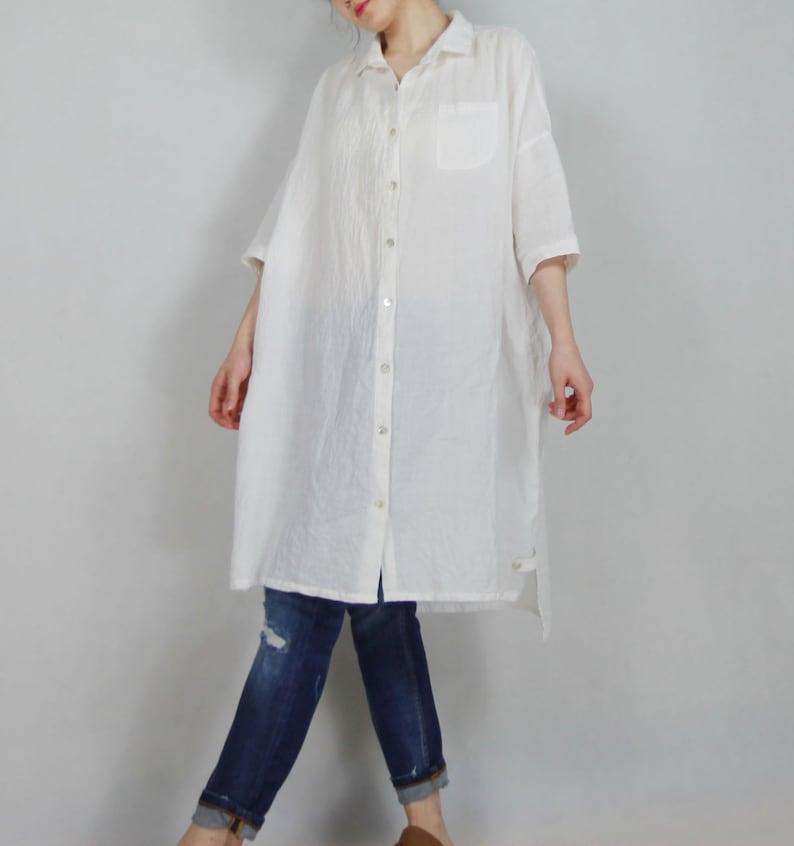 d0354cd6e76 318Women s Oversized Linen Shirt   Dress Boyfriend