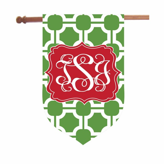 Personalized Christmas Chinoiserie Garden Flag