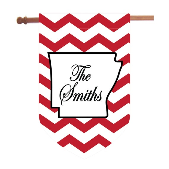 Personalized State Chevron House Flag, ANY STATE