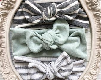 Baby Bows, Cute Baby Bows, Newborn Headbands, Headbands for babies, Baby Girl Headband Set