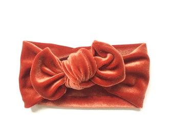 Velvet Knit Headband  Newborn Headband  Baby Headband  Baby Headwraps  Soft Waffle Knit Topknot Turbans  Baby Shower Gift
