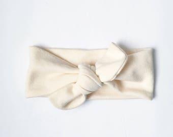 Cream Baby Headband // Baby Headwraps // Baby Topknot // Baby Turbans // Baby Shower Gift // Baby Headband // Infant Headband // Baby Gift