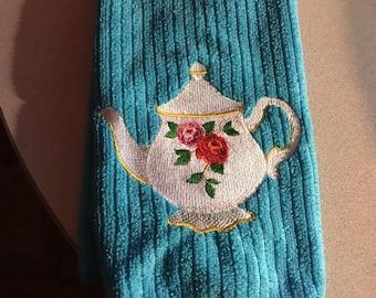 English Teapot Kitchen Towel