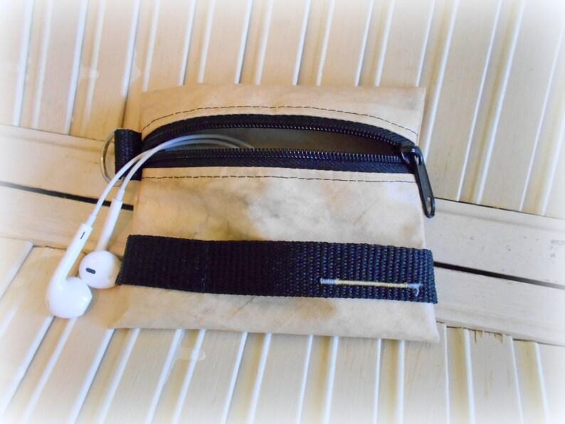 Small Change Purse Firefighter Ear bud Pouch Fireman Bag Zippered Coin Purse Turnout Gear Small Zippered Bag