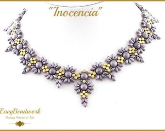 """Beading Pattern for the  """"Inocencia"""" Necklace pa-021"""