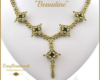"""Beading Pattern for the """"Beaudine"""" Necklace pa-014"""