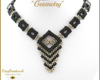 """Beading Pattern for the  """"Geometry"""" Necklace (only available in English) pa-019"""