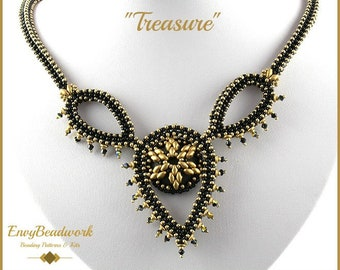"""Beading Pattern for the  """"Treasure"""" Necklace pa-031"""