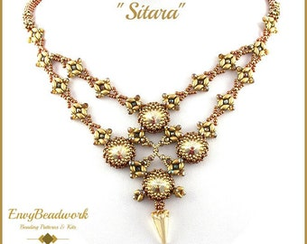 """Beading Pattern for the """"Sitara"""" Necklace pa-029"""