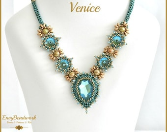 """Beading Pattern for the   """"Venice"""" Necklace pa-032"""