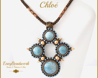 """Beading Pattern for the  """"Chloé"""" beadembroidery necklace pa-043"""
