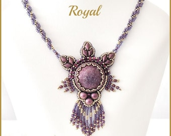 Beading Pattern for the Royal  Beadembroidery necklace pa-051