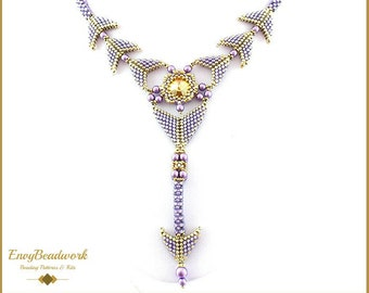 """Beading Pattern for the  """"Yvonne""""  Jewelry set pa-035"""