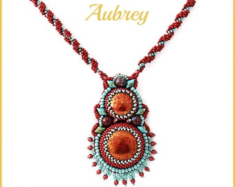 Beading Pattern for the Aubrey Necklace (beadembroidery) pa-052