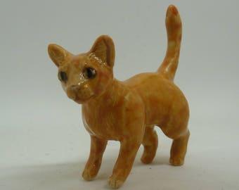 Ginger cat Ceramic Miniature Sculpture