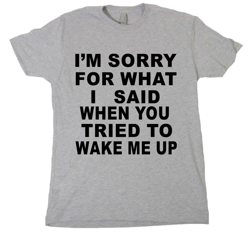 79eaa5a4d I'm Sorry For What I Said When You Tried To Wake Me Up | Etsy