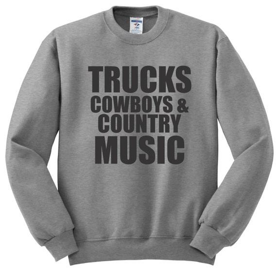 Trucks Cowboys Country Music Hoodie Cowboy Hoody South USA Gift 571