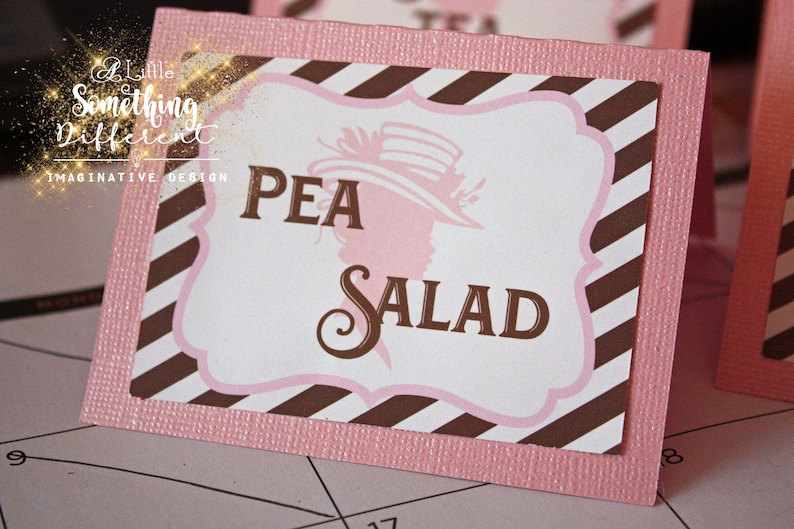 b728f58a7a5 Ladies Tea Luncheon Decorations Decor Supplies Place cards