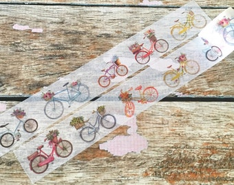 Floral Bicycles Washi Tape 30mm
