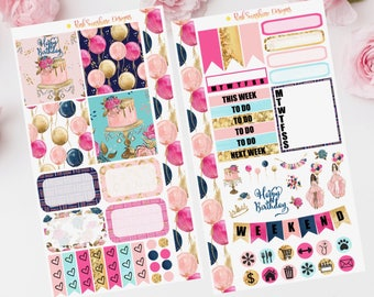 BIRTHDAY PERSONAL PLANNER Stickers Set for your Planner