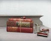 Vintage Books Set of Three Bookshelf Library Coffee Table Decor