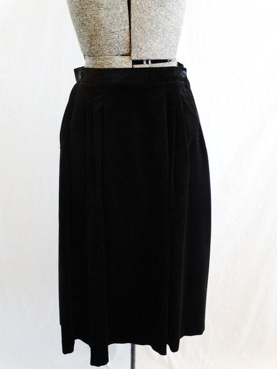 Black Woodard Appliqued Puffed 1970s 2 Suit Piece Late Shoulder Patty Sleeves Velvet tx4vqxwE