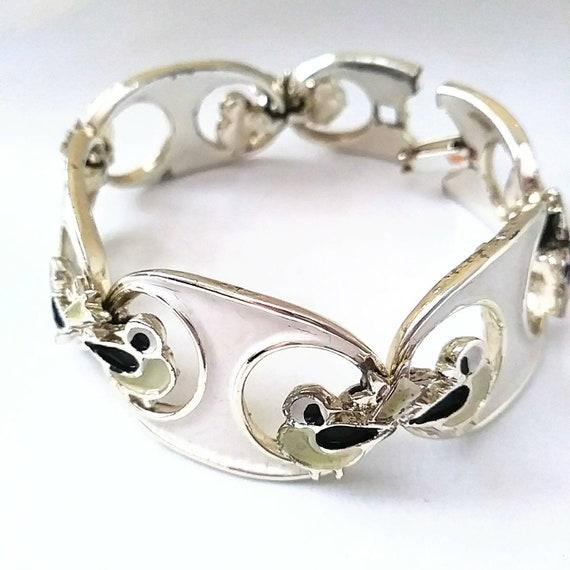 1950s Love Bird Figural Novelty Link Bracelet Joll