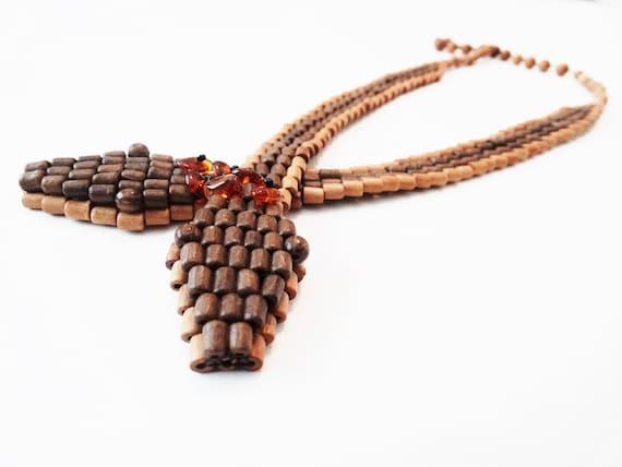 Vintage Art Deco Style Snake Necklace Sautoir Snak