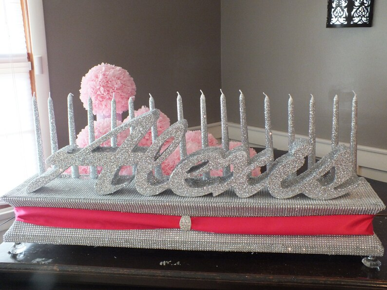 Mitzvah Quinceanera Sweet 16 Candelabra Candle Stand