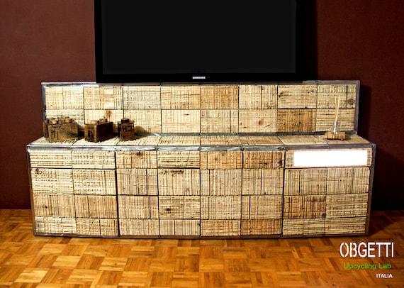 Tv Mobel Tv Wand Design Ausstattung Dachgeschoss Etsy