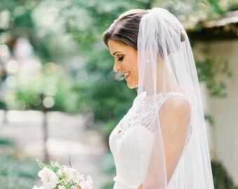 Soft Bridal Veil  Wedding Bridal Veil white, ivory bridal Veil Elbow Fingertip Waltz Floor Chapel Cathedral length veil bridal veil cut veil