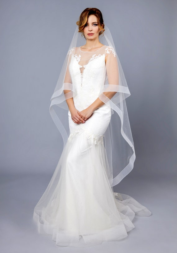Horsehair Tulle Veil Ivory 2 Horsehair Veil Bridal Etsy