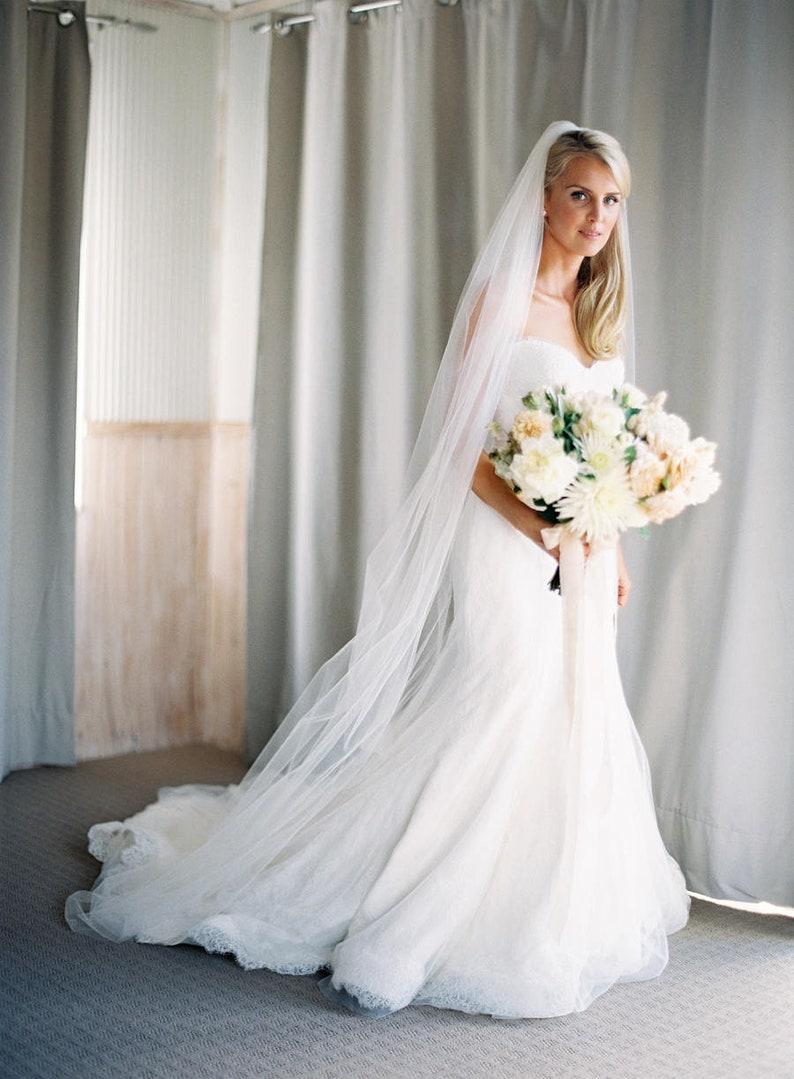 571da46e55 Tul de novia velo de Novia de la boda de velo blanco Marfil