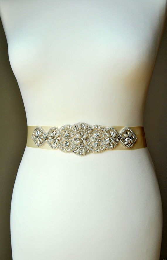 Bridal Sash Wedding Belt Sash Rhinestone Wedding Gown Belt | Etsy