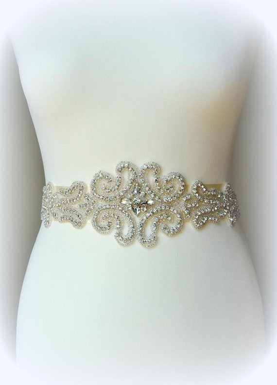 Bridal Wedding Belt Sash Rhinestone Wedding Gown Belt Sash | Etsy