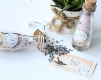 1 Lavender, Oatmeal Bath Salt//Wedding//Gift//Favor