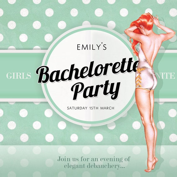 Hen Do Party Invites Hen Night Girl Party Invitations Girls 200gsm Gloss Cards
