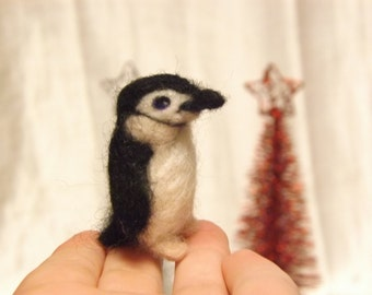Custom Needle Felted Miniature Penguin